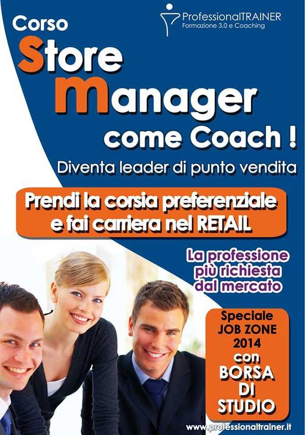 store manager come coach volantino